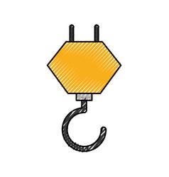 Crane hook construction equipment mechanical vector