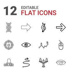Curve icons vector
