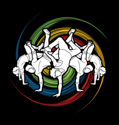 dancer dancing people group of people dancing vector image