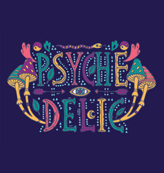 detailed ornamental psychedelic lettering vector image