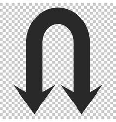 Double Back Arrow Icon vector image