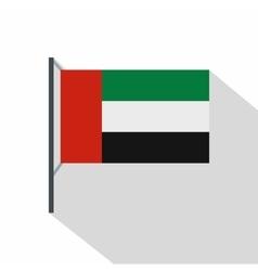 Dubai flag icon flat style vector
