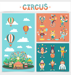 flat carnival elements concept vector image