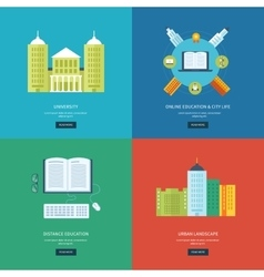 Flat design modern icons set vector image