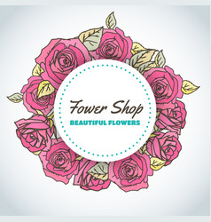 flower shop floral background for beauty salon vector image
