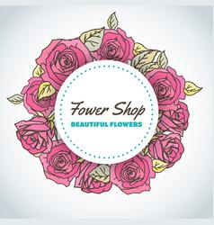 flower shop floral background for beauty salon vector image