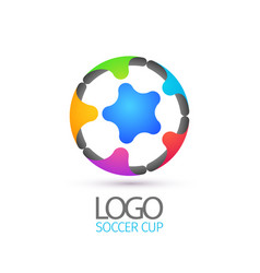 Football abstract logotype for championship vector