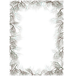 frame for photo text branches nest with a bird vector image