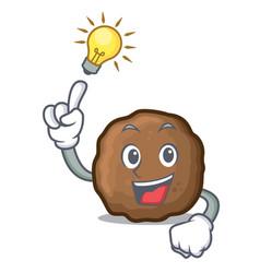 Idea meatball mascot cartoon style vector