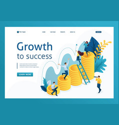 isometric successful growth investment vector image