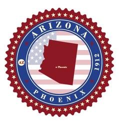 label sticker cards state arizona usa vector image