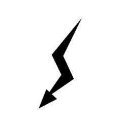 lightning icon flat design best vector image
