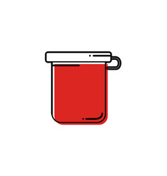 Line jar of childrens gouache icon vector