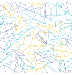 Line seamless pattern with origami paper forms vector