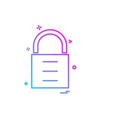 lock icon design vector image