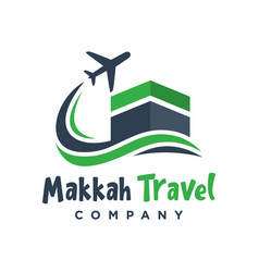 logo design trips to saudi arabia vector image