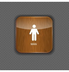Man application icons vector image
