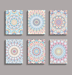 Mandala design backgrounds vector