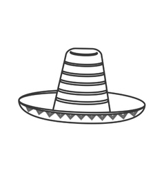 mexican hat sombrero icon vector image