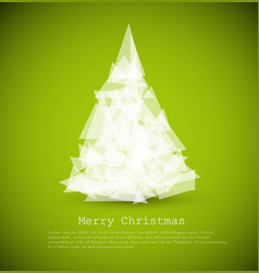 Modern card with abstract christmas tree vector