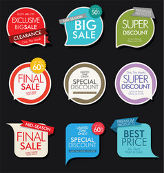 modern sale banners and labels collection 5 vector image