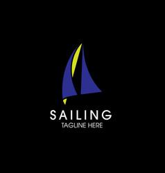 Modern simple sailing logo vector