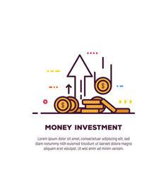 Money and investment banner vector