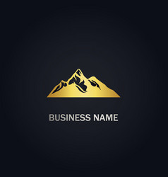mountain nature landscape logo vector image