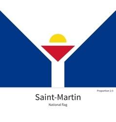 National flag saint-martin with correct vector