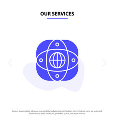 our services artificial connection earth global vector image