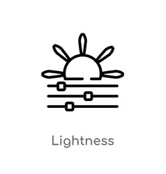 Outline lightness icon isolated black simple line vector