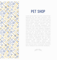 Pet shop concept with thin line icons vector
