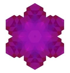 Polygonal Pink Symbol vector image