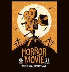 Poster for horror movie festival scary cinema vector