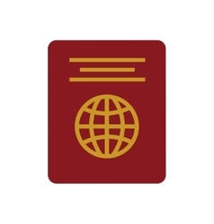 Red passport identification tourist vector