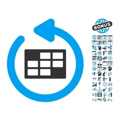 Refresh Calendar Table Flat Icon With Bonus vector