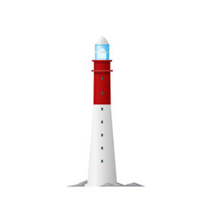 retro lighthouse nautical building isolated icon vector image