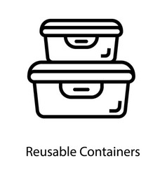 Reusable containers vector