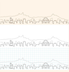 san marino hand drawn skyline vector image