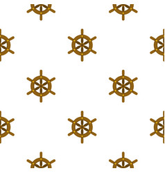 Ship wheel pattern flat vector