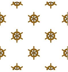 Ship wheel pattern flat vector