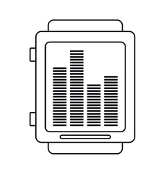 Smart watch music frecuency outline vector