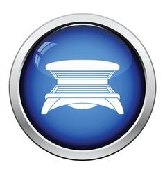 Solarium icon vector