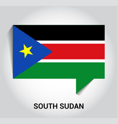 south sudan flag design vector image