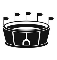sport round stadium icon simple style vector image