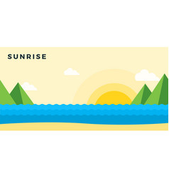 sunrise on beach vector image