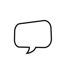 thought or speech bubble line art style vector image