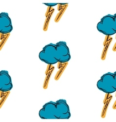 Thundercloud painting is painted simple background vector