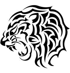 tiger head tattoo vector image