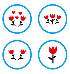 Tulip rounded icons vector
